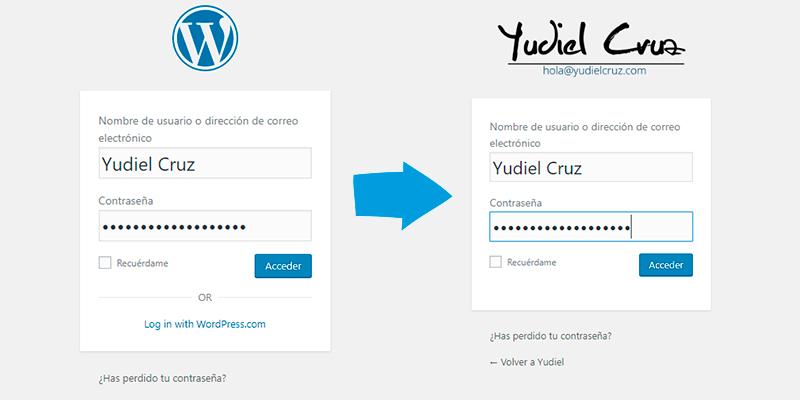 logotipo de login en WordPress