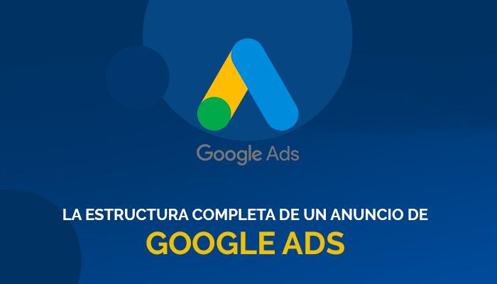 La estructura completa de un anuncio de Google Ads